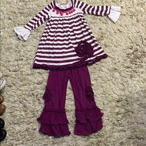 Jelly The Pug sz6 Girls Purple Boutique Outfit